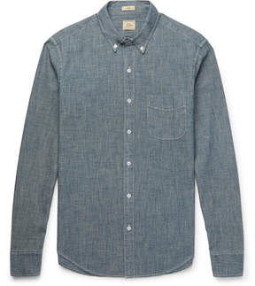 J.Crew Slim-Fit Button-Down Collar Cotton-Chambray Shirt