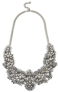 BaubleBar Women's Ice Queen Crystal Statement Necklace