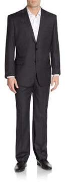 English Laundry Regular-Fit Solid Wool Suit