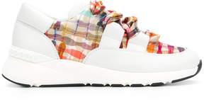 Casadei printed panel sneakers