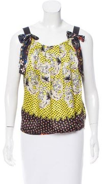 Christian Lacroix Satin Abstract Top