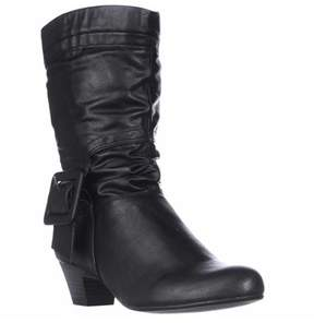 Style&Co. Sc35 Yesme Mid-calf Fashion Boots, Black.