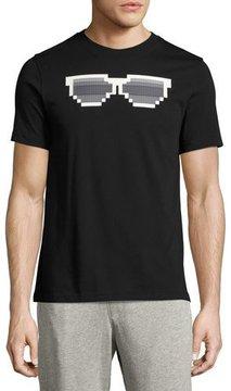 Mostly Heard Rarely Seen Shady 8-Bit Sunglasses Graphic T-Shirt, Black