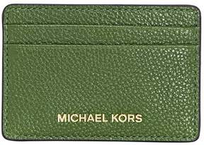Michael Kors Money Pieces Leather Card Holder- True Green - ONE COLOR - STYLE