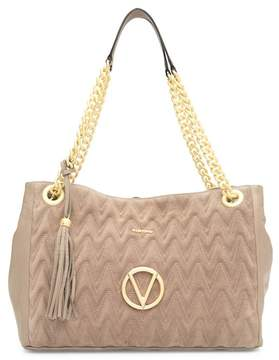 Mario Valentino Valentino By Vera Quilted Suede & Leather Tote Bag