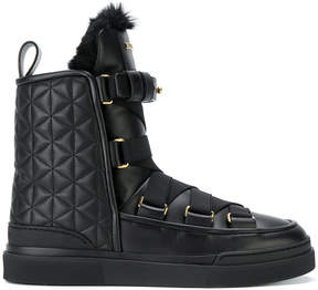 Balmain Apollonia quilted high-top sneakers