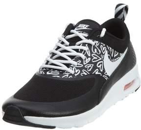 Nike Thea Print Black/White-Lava Glow (Big Kid) (6 Big Kid M)