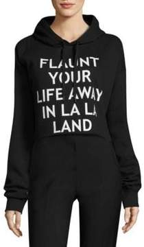 Each X Other Cropped Graphic Hooded Sweatshirt