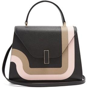Valextra Iside Medium Grained Leather Bag - Womens - Black Multi