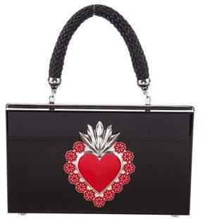 Charlotte Olympia Perspex & Raffia Bag