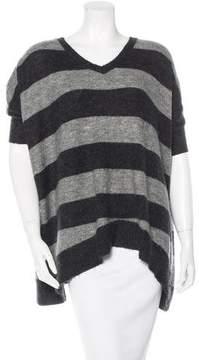 Cynthia Rowley Striped Short Sleeve Sweater