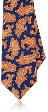 Kiton Men's Paisley Silk Faille Necktie