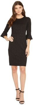 Donna Morgan 3/4 Sleeve Stretch Brocade Bodycon Women's Dress