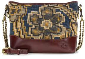 Patricia Nash Salvina Small Zip Tapestry Tote with Leather Trim