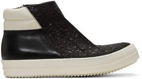 Rick Owens Black Island Dunk Combo High-Top Sneakers