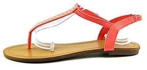 Material Girl Womens Salem Split Toe Casual T-strap Sandals.
