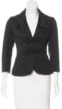 Bally Wool-Blend Patterned Blazer