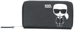 Karl Lagerfeld Karl motif continental wallet
