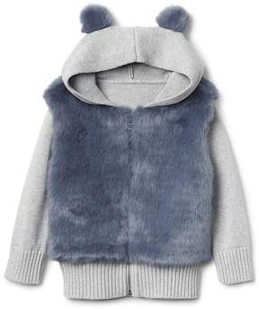 Gap Cozy faux-fur zip hoodie
