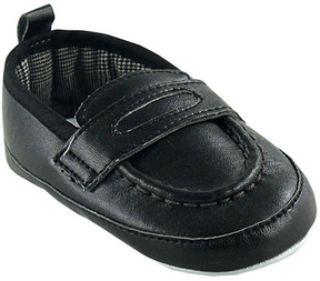 Luvable Friends Black Slip-On Shoe - Boys