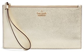 Kate Spade Women's Cameron Street Ariah Leather Wristlet - Green - GREEN - STYLE