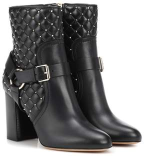 Valentino Rockstud Spike leather ankle boots