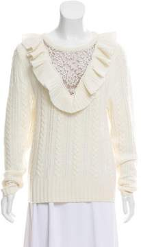 Nightcap Clothing Ruffled Wool Sweater