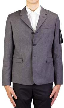Christian Dior Men's Soft Virgin Wool Cashmere Padded Sportscoat Jacket Light Grey.