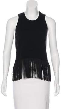 Timo Weiland Fringe-Trimmed Sleeveless Top w/ Tags