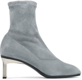 3.1 Phillip Lim Blade Stretch-suede Sock Boots - Anthracite