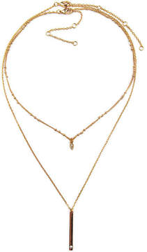 Arizona Womens 2-pc. Clear Necklace Set