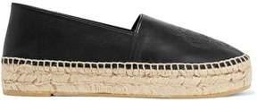 Kenzo Embossed Leather Platform Espadrilles