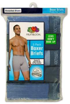Fruit of the Loom Men's Assorted Blues Boxer Briefs, 5 Pack