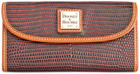 Dooney & Bourke Lizard-Embossed Continental Wallet, a Macy's Exclusive Style - COGNAC - STYLE