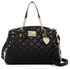 Betsey Johnson Multi Compartment Quilted Satchel