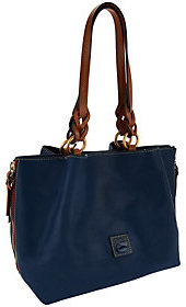 Dooney & Bourke Florentine Leather Large Zip Barlow Satchel