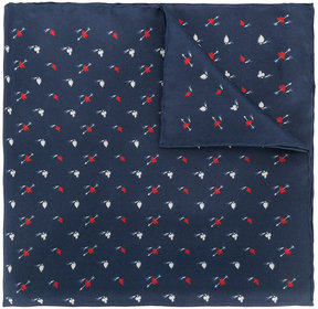 Lanvin Suits print pocket square