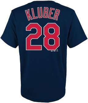 Majestic Boys 4-18 Cleveland Indians Corey Kluber Player Name and Number Tee
