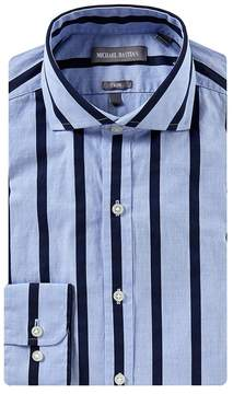 Michael Bastian Slim Fit Spread Collar Bold Stripe Dress Shirt