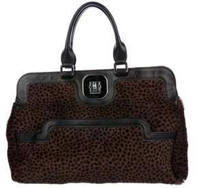 Longchamp Printed Ponyhair Handle Bag