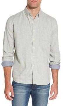 Grayers Men's Chester Modern Fit Double Cloth Herringbone Sport Shirt
