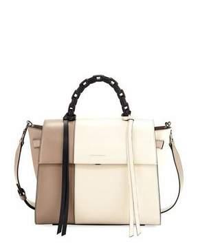 Elena Ghisellini Angel Large Abstract Colorblock Top Handle Bag