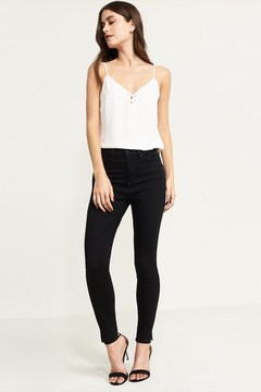 Dynamite Kate Black High Rise Skinny Jean With Slit