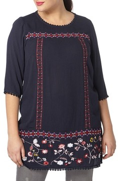 Evans Plus Size Women's Embroidered Tunic