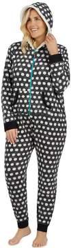 Cuddl Duds Plus Size Fleece Lined One-Piece Pajamas