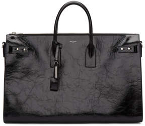 Saint Laurent Black Large Sac de Jour Souple Duffle Bag