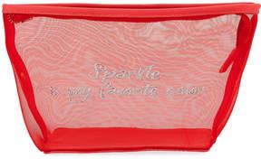 Neiman Marcus Sparkle is My Favorite Color Mesh Cosmetics Bag