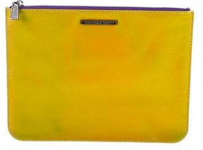 Rebecca Minkoff Leather Zip Clutch - YELLOW - STYLE