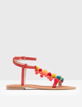 Boden Pom Pom Sandal