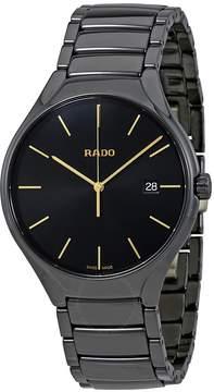 Rado True Black Dial Ceramic Men's Watch